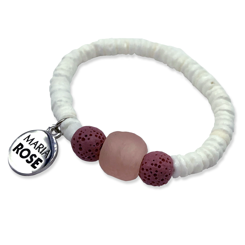 22a21cada Pink Shell Aromatherapy Bracelet - Designs by Maria Rose