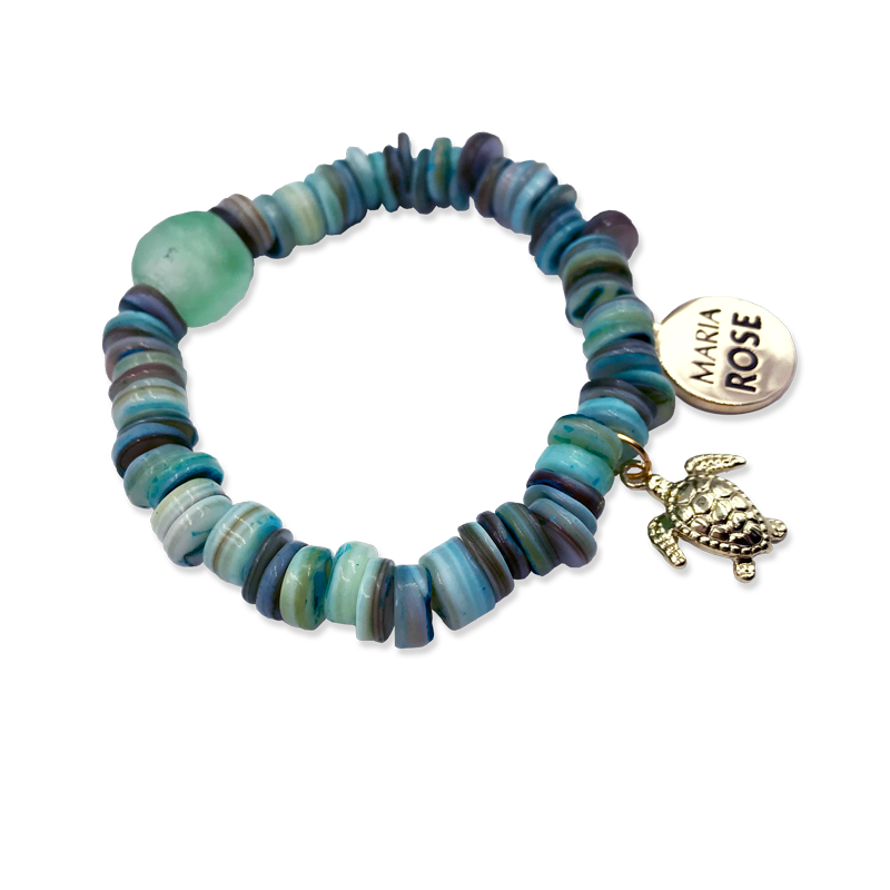 5f26abf27 Turtle Shell Beaded Bracelet - Designs by Maria Rose