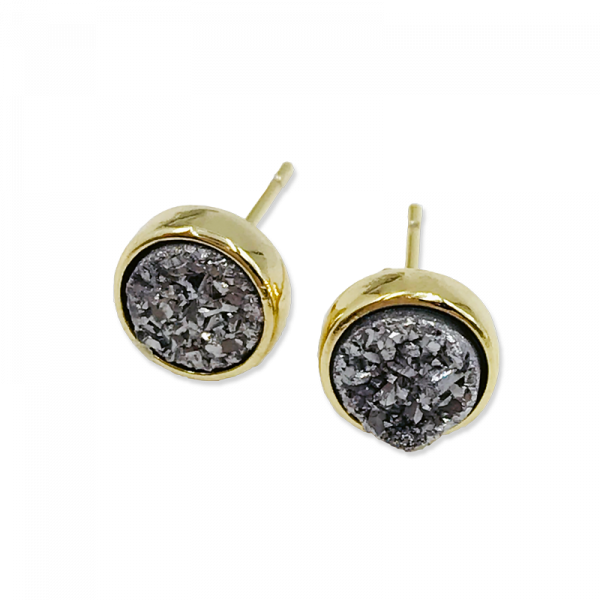 3 Pair Petite Drusy Earrings