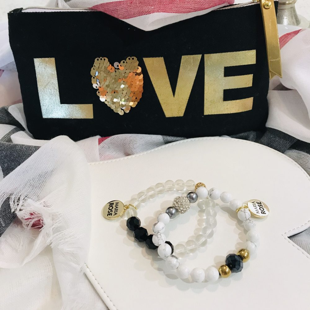 Maria Rose Black Bracelet Gift Set