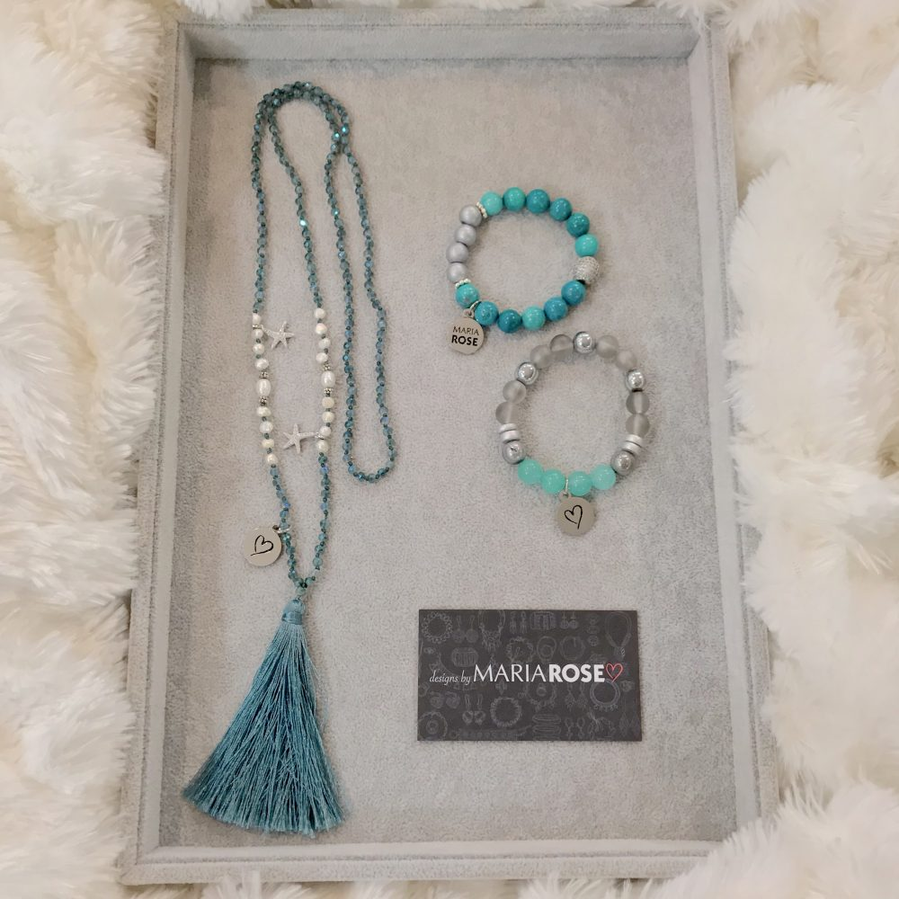 Starfish Necklace Turquoise Jewelry Gift Set