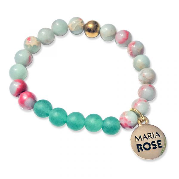 Maria Rose Sea Green Beaded Bracelet