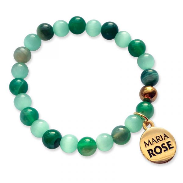Amazon Green Beaded Bracelet Set